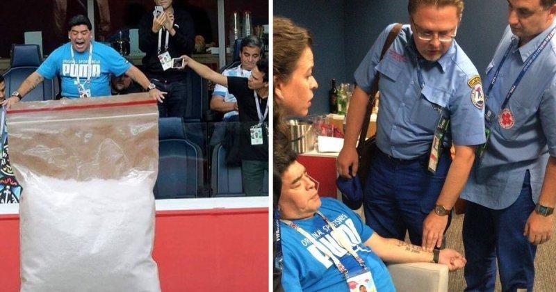 Стиральный порошок, госпитализация и другие приключения Марадоны в России