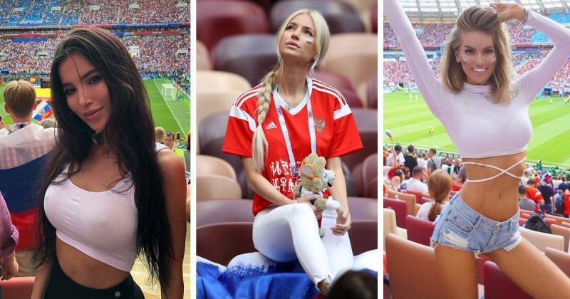 Самые эффектные девушки матча Россия - Испания