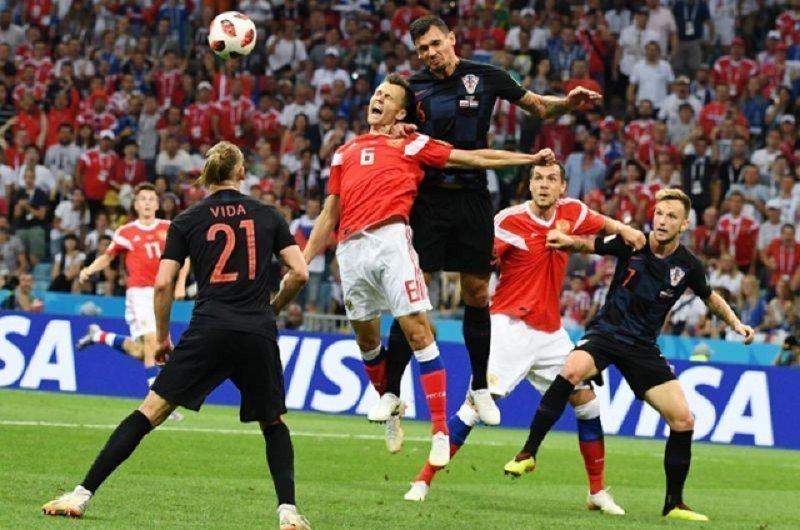После победы сборная Хорватии устроила провокацию