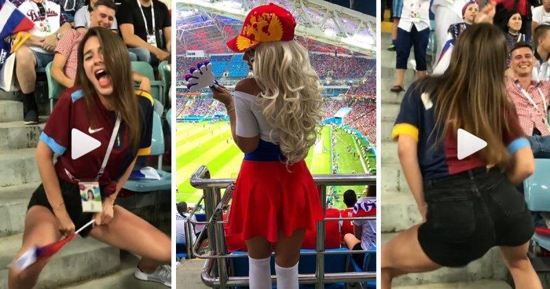 Самые яркие болельщицы матча Россия - Хорватия