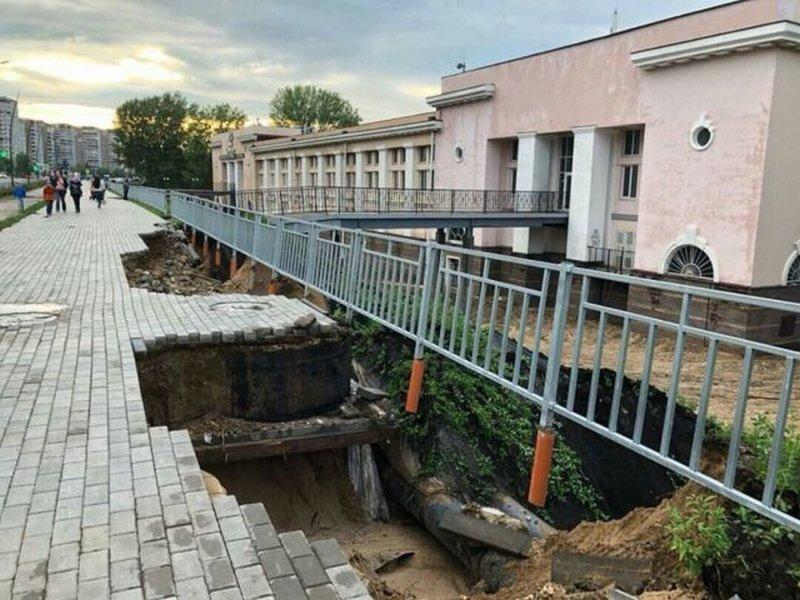 Дождь размыл набережную, построенную в Нижнем Новгороде к ЧМ-2018