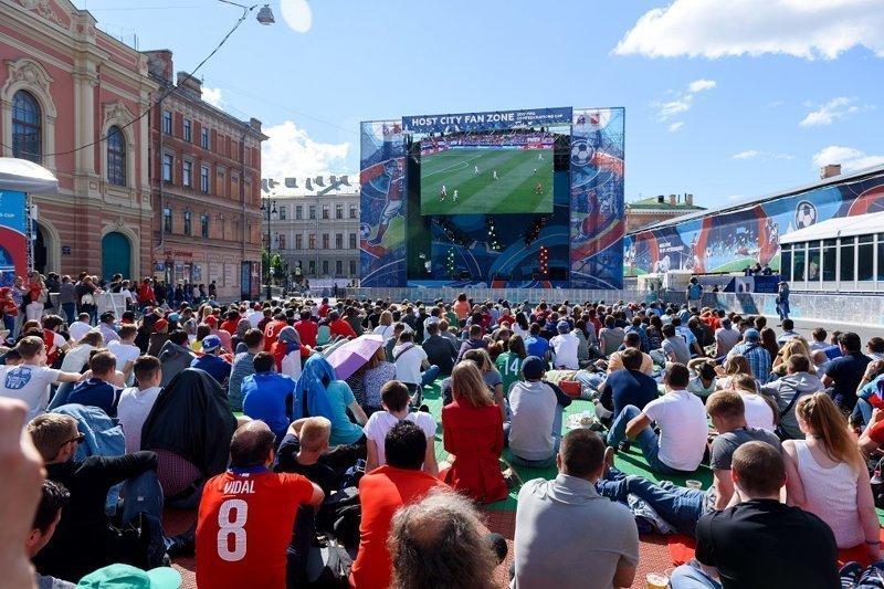 Фан-зону ФИФА в Петербурге посетили более 1,3 миллиона человек