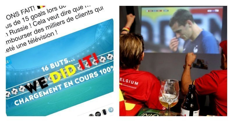 Бельгийские футбольные болельщики получат назад деньги за купленный телевизор
