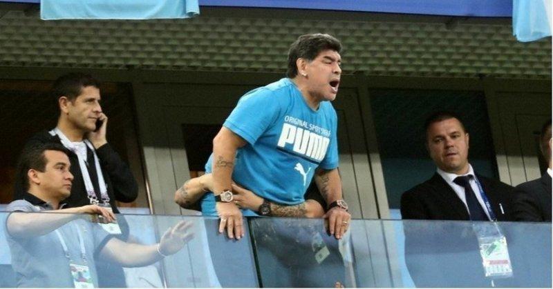 Легендарному Диего Марадоне стало плохо после матча Аргентина-Нигерия