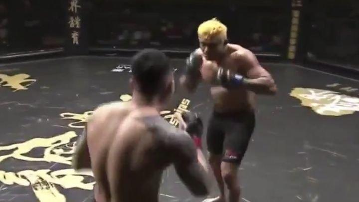 Корейский боец ММА отправил соперника в нокаут ударом по ноге