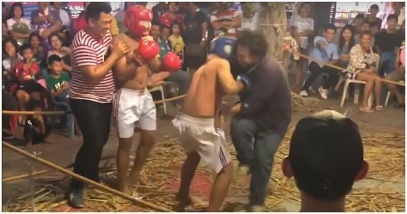 Дезориентированный боксёр случайно атаковал рефери