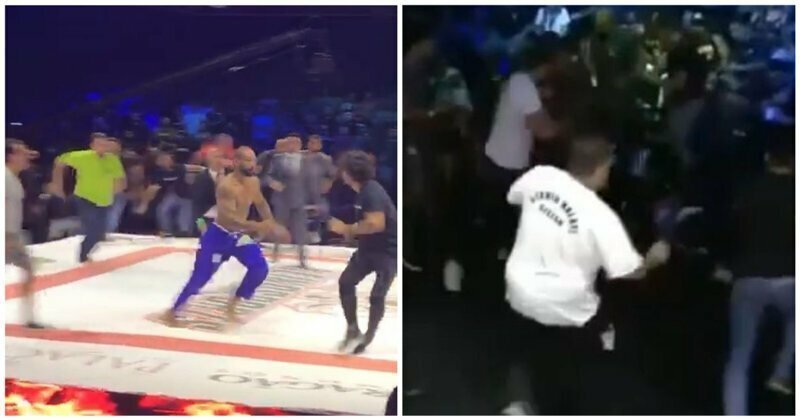 Боец джиу-джитсу спровоцировал массовую драку на турнире