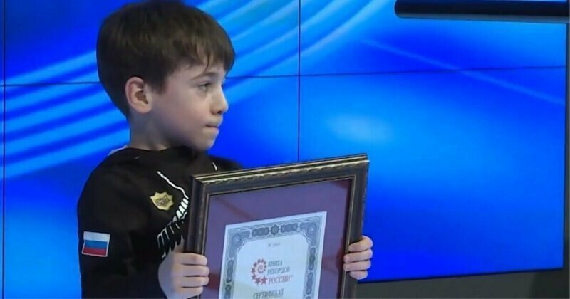 Шестилетний чеченец отжался на брусьях 330 раз и стал мировым рекордсменом