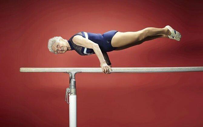 Невероятное выступление 86-летней гимнастки