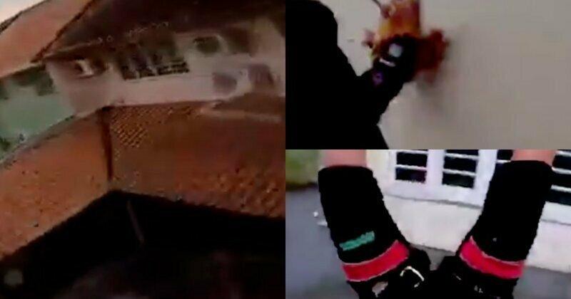 Парашютист снял на камеру, как чудом выжил, врезавшись в дом