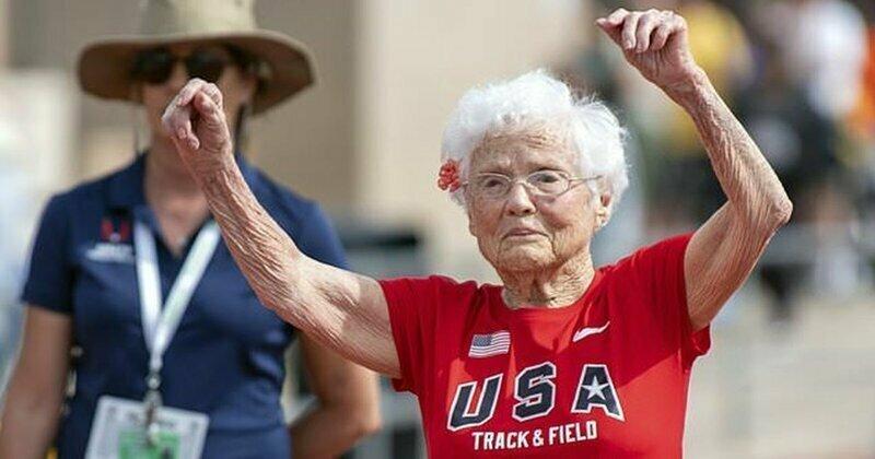 """103-летняя бегунья из США вновь подтвердила свое прозвище """"Ураган"""""""