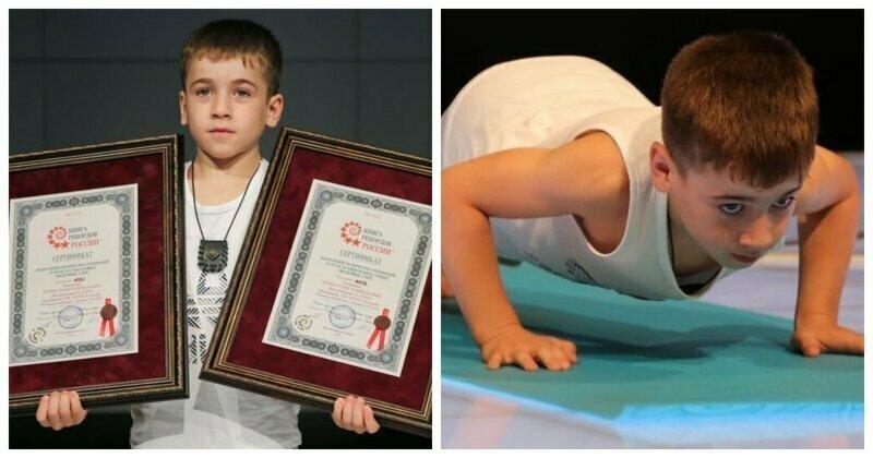 """6-летний """"чеченский Шварценеггер"""" поставил два новых рекорда"""