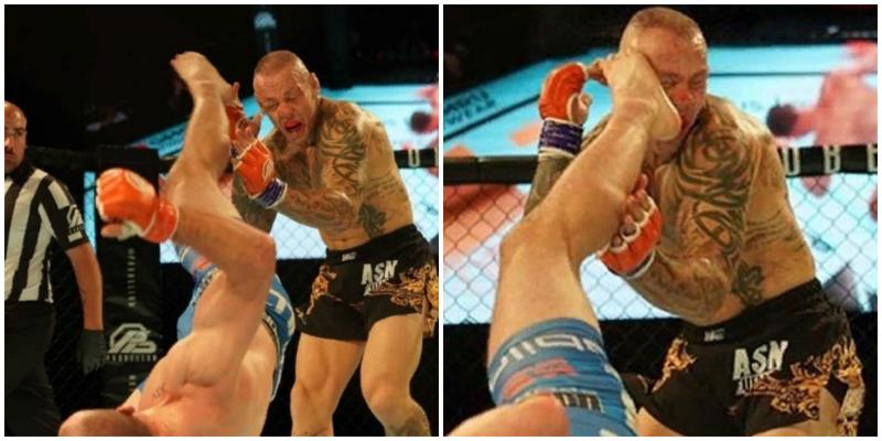 Молодой боец нокаутировал ветерана UFC ударом «раскат грома»