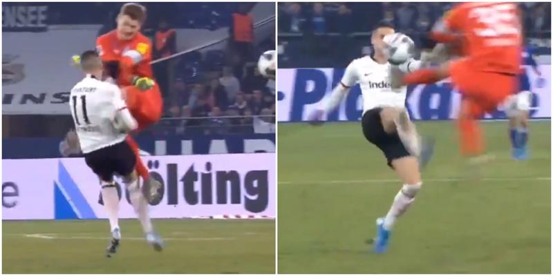 Футболист отправил своего соперника в нокаут во время матча