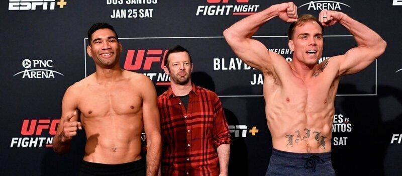 Прижатый к сетке боец UFC отправил соперника в нокаут