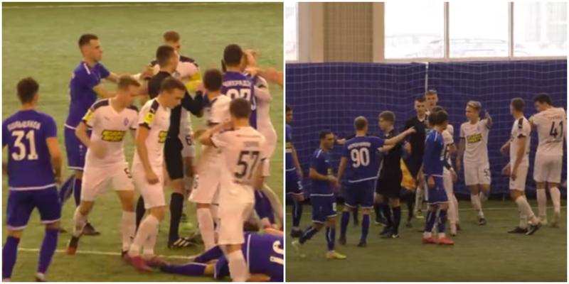 На матче по футболу молодёжного первенства завязалась драка