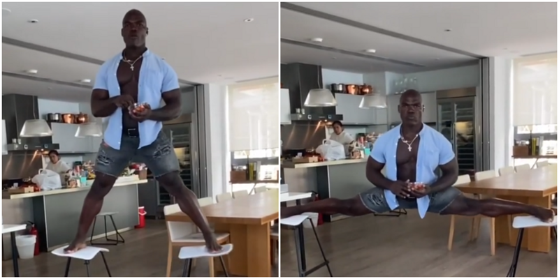 Камерунский боец ММА показал свою тренировку в стиле Ван Дамма