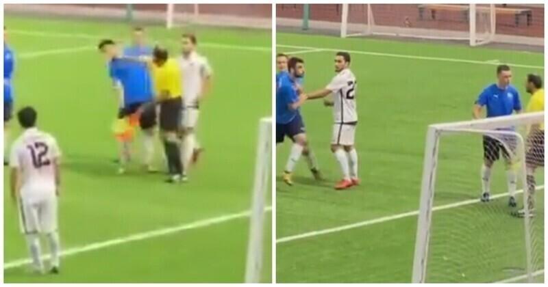 Российский арбитр ударил футболиста во время товарищеского матча