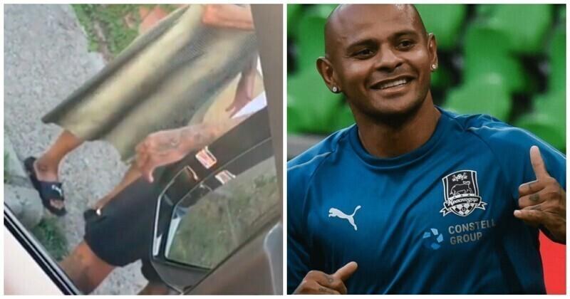 Бразилец из сборной России отдал свою обувь босой пенсионерке