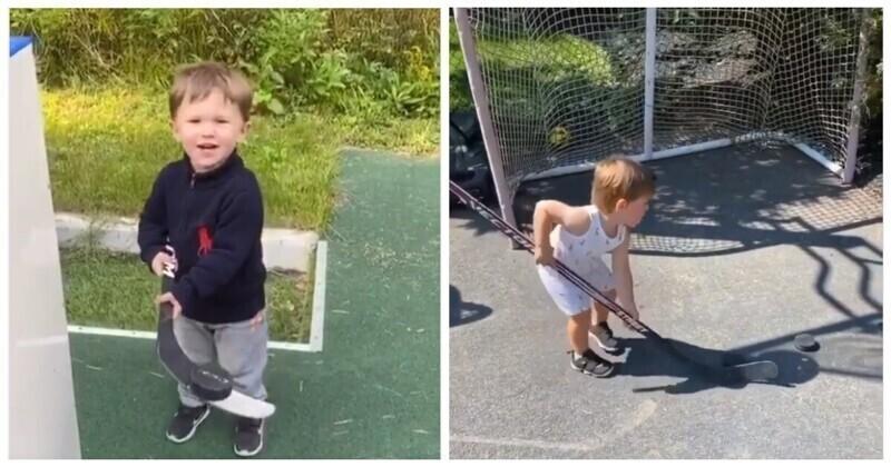 Двухлетний сын Овечкина восхитил фанатов хоккейным трюком
