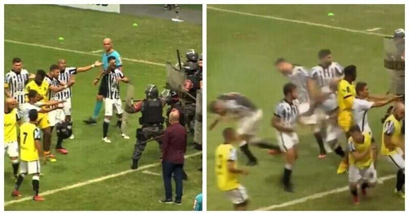 Бразильский ОМОН применил дубинки и слезоточивый газ против футболистов