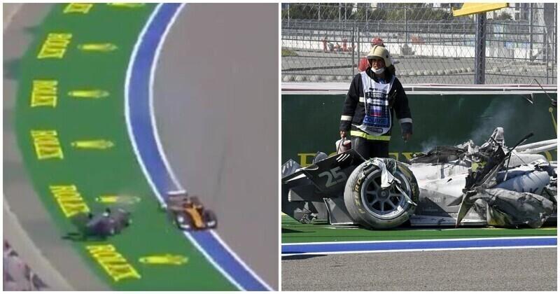"""Гонку """"Формулы-2"""" в Сочи отменили из-за серьезной аварии"""