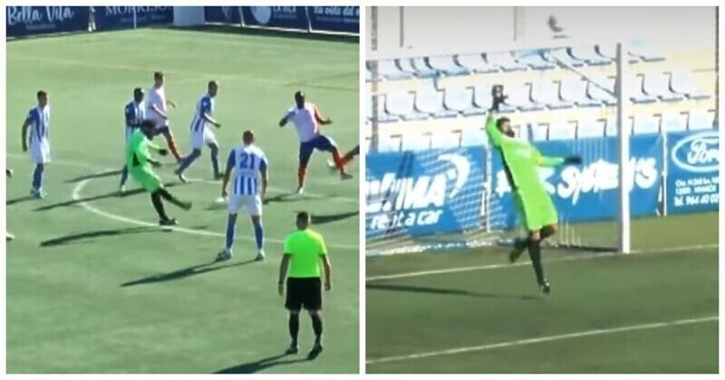 Испанский вратарь забил гол на 95-ой минуте и тут же пропустил мяч с центра поля