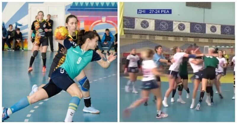 Украинские гандболистки устроили потасовку во время матча