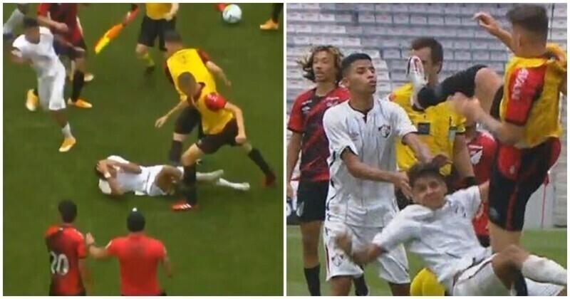 Финал чемпионата Бразилии по футболу закончился массовой дракой