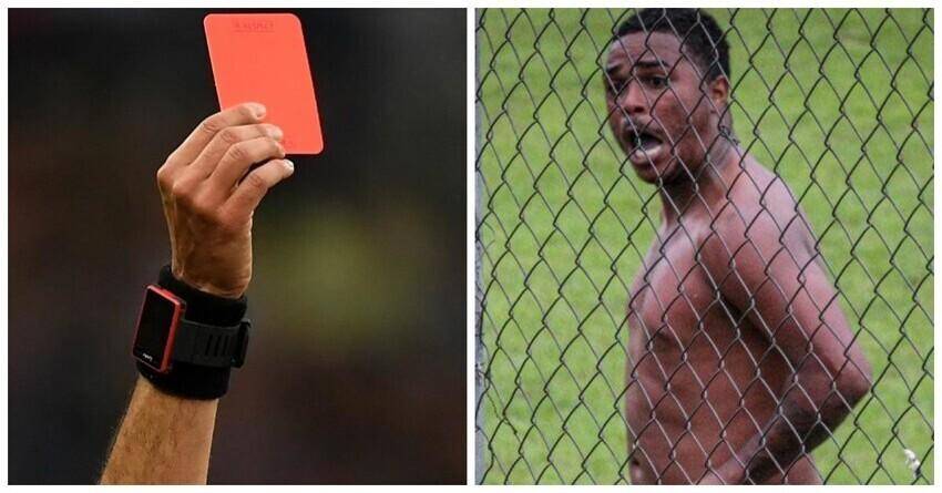 Футболиста дисквалифицировали на 8 матчей за демонстрацию пениса соперникам