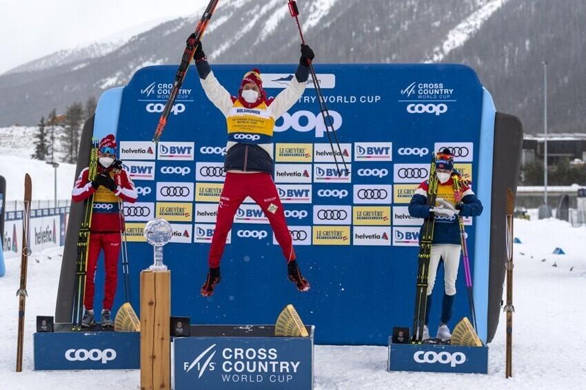 Стало известно, сколько заработал лыжник Большунов по итогам КМ