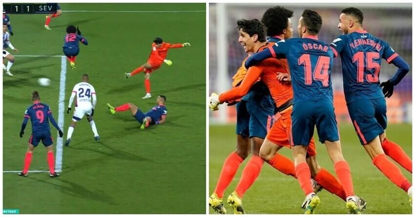 Испанский вратарь забил гол на последней минуте и спас команду от поражения