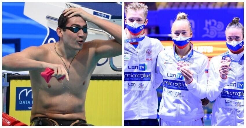 Российские спортсмены выиграли медальный зачет ЧЕ по водным видам спорта