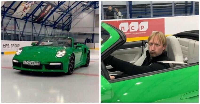 Плющенко выехал на лед своей академии на Porsche и был высмеян в Сети