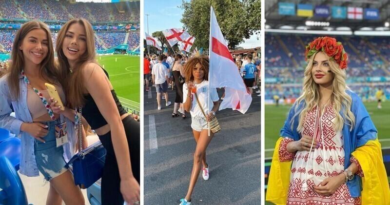 Самые сексуальные болельщицы матчей 1/4 финала ЕВРО-2020
