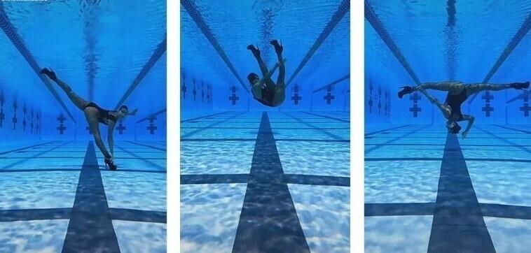 Синхронистка показала подводные танцы в экстравагантных нарядах
