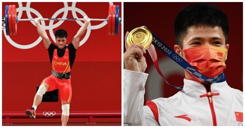 «Стойка фламинго»: китайский штангист взял золото ОИ и установил рекорд стоя на одной ноге