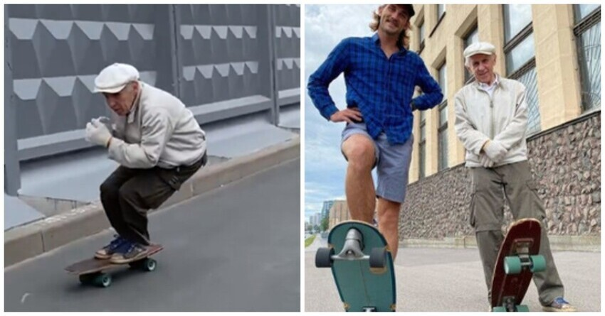 Старая школа: в Петербурге нашли самого пожилого скейтбордиста