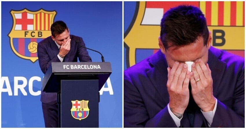 Лионель Месси покинул «Барсу» и расплакался на прощальной пресс-конференции