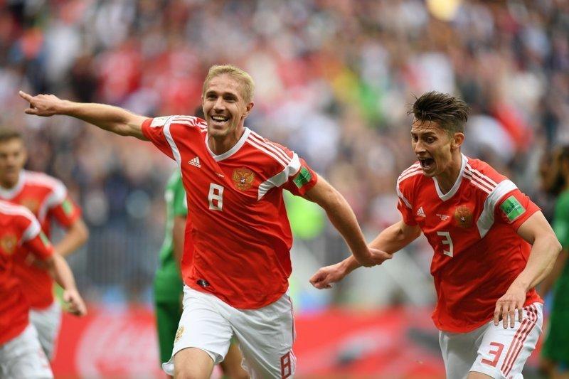 Сборная России разгромила Саудовскую Аравию в первом матче чемпионата мира Саудовскую Аравию, разгромила, сборная россии, чемпионата мира