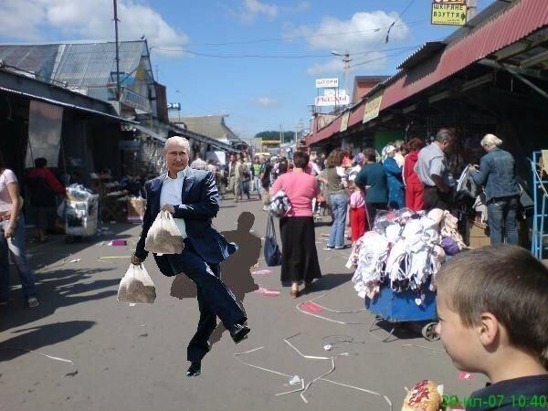 Владимир Путин попинал мяч и стал жертвой фотошоперов