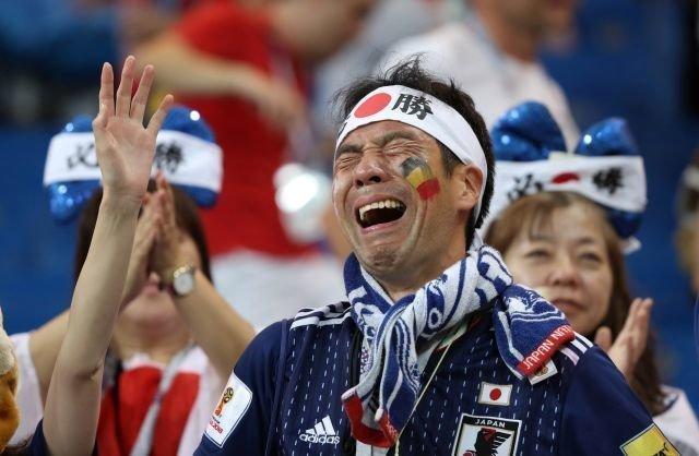 Буквально за 30 минут матча предвкушение победы у японцев сменилось горечью поражения. ЧМ 2018 Россия, ЧМ 2018 по футболу, болельщики, спорт, фото, футбол, футбольные болельщики, эмоции