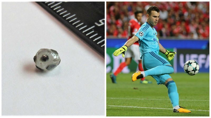 Найден алмаз в форме мяча, который предсказывает победу России в ЧМ ynews, Акинфеев, алмаз, интересное, фото, футбол