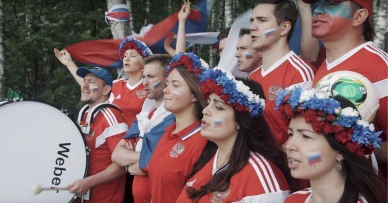 Российские футбольные болельщики записали видеоответ исландцам, спевшим «Калинку-малинку» Исландия, видео, интересное, россия, спорт, футбол, чемпионат мира