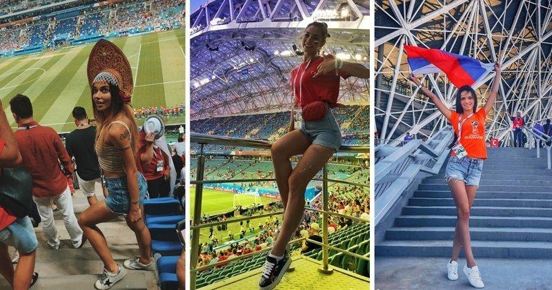 Самые милые болельщицы со стадионов, попрощавшихся с ЧМ-2018 болельщицы, девушки, россия, спорт, футбол, чм-2018