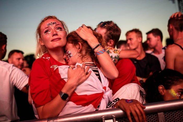 Как плакали английские фанаты, когда хорваты отобрали у них мечту Англия, Хорватия, болельщики, спорт, фанаты, футбол, чемпионат мира