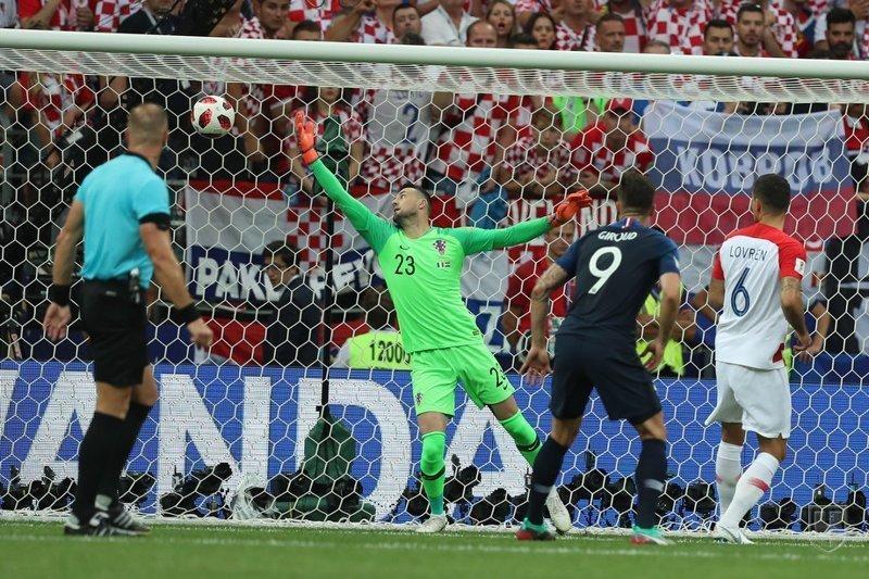 1й гол Франции Франция, спорт, футбол, чм2018
