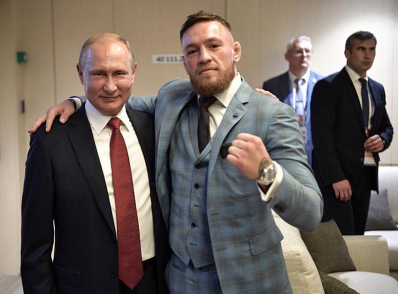 Макгрегор выложил совместное фото с Путиным instagram, ЧМ 2018 по футболу, макгрегор, путин, спорт