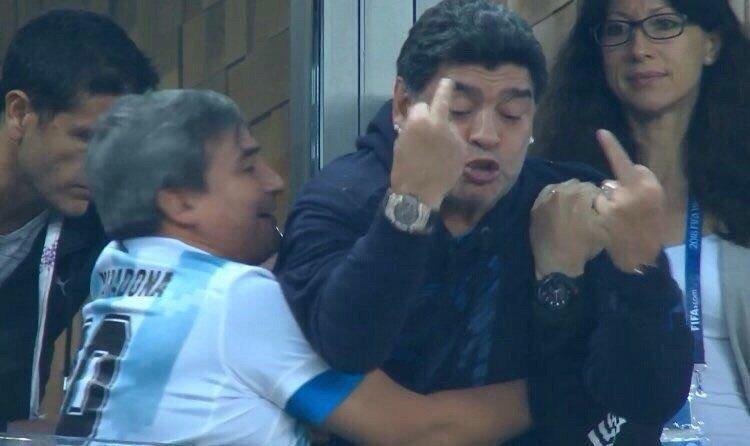Окончательно проснулся Марадона к главному событию матча — победному голу своей команды ynews, аргентина, видео, диего марадона, россия, спорт, футбол, чемпионат мира