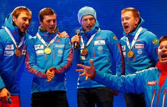 Мужской хор биатлонистов Сборной РФ meca hockey game, видео, гимн, норвегия, смешно, спорт, хоккей